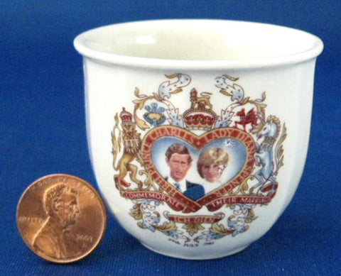Egg Cup Princess Diana Charles Royal Wedding 1981 Cup Eggcup - Antiques And Teacups - 1