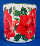 Christmas Mug Amaryllis Artist Signed Shao Wei Liu 1996 Potpourri Press - Antiques And Teacups - 2