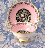Cup And Saucer Paragon Queen Elizabeth II Wedding 1939 Indian Tree Pink - Antiques And Teacups - 3