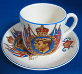 Commemorative Teacup King George VI and Elizabeth Visit To Canada 1939 Demi