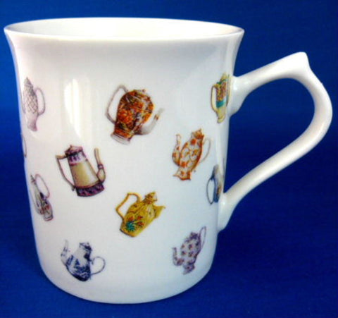 Mug Teapots And Coffee Pots On White Ceramic So Cute Teapot Collection - Antiques And Teacups - 1