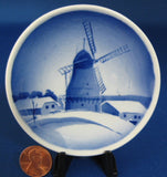 Royal Copenhagen Butter Pat Windmill Teabag Caddy 1950s Denmark Hand Painted - Antiques And Teacups - 1