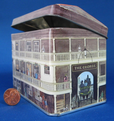 Tea Tin Regency Period The George Coaching Inn National Trust 1980s - Antiques And Teacups - 1