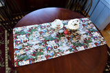 Christmas Kitties Table Runner 39 Inches By 18 Inches Jenny Newland Gold Metallic Handmade