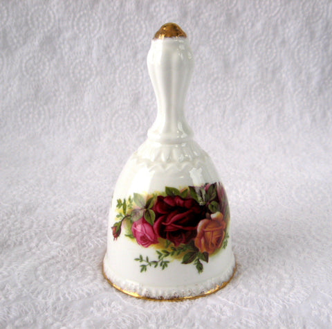 Hostess Bell Royal Albert Old Country Roses England 1962-1974 Bone China - Antiques And Teacups - 1