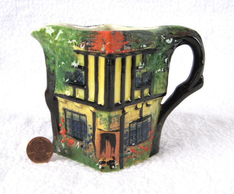 Royal Winton Pitcher Ye Olde Inne Vintage Cottage Ware 1930s Rubian Ware - Antiques And Teacups - 1