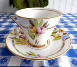 Art Deco Cup And Saucer Spring Flowers Enamel Phoenix England Forester 1930s - Antiques And Teacups - 3