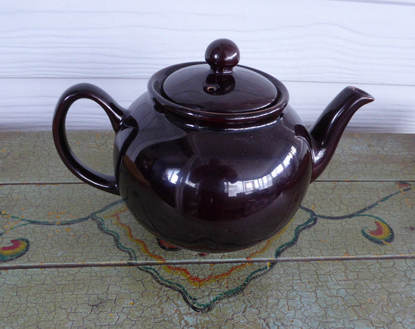 Brown Betty Teapot English Made Pristine Large 1980s Shiny