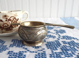 Vintage Tea Strainer Over The Cup Strainer With Drip Cup 1920s Art Deco 2 Piece - Antiques And Teacups - 2