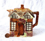 Cottageware Chocolate Pot Teapot 1950s Keele England Hand Painted - Antiques And Teacups - 1