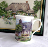 Charming Mug Adderley English Hill Cottage And Garden Bone China English Villages Tea Party - Antiques And Teacups - 1