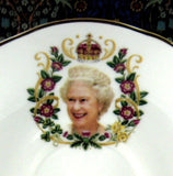 Queen Elizabeth II Diamond Jubilee Cup And Saucer English Bone China 2012 - Antiques And Teacups - 4