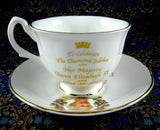 Queen Elizabeth II Diamond Jubilee Cup And Saucer English Bone China 2012 - Antiques And Teacups - 5
