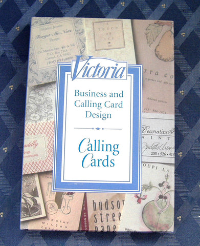 Book Victoria Magazine's Calling Cards Hardback Gorgeous Photos 1992 Card Design - Antiques And Teacups - 1