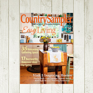 Frontier Log Cabin in Country Sampler Magazine