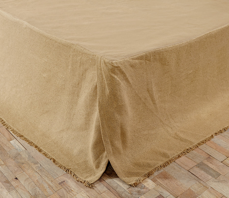 Burlap Natural Bedskirt