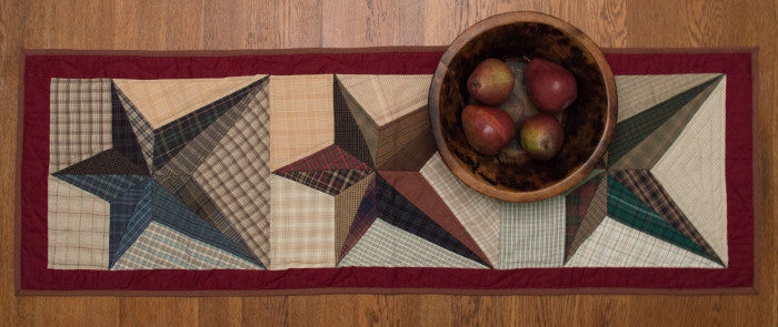 Scrappy Star Quilted Table Runner by Retro Barn
