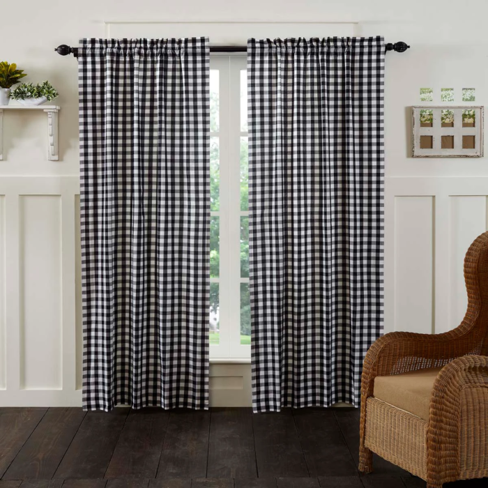 "Annie Buffalo Black Check 84"" Panel Set"