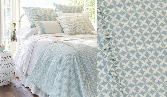 Charleston Aqua Duvet Cover