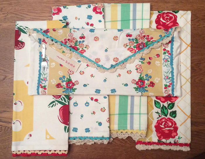 Fresh Fruit Vintage Style Towel Set
