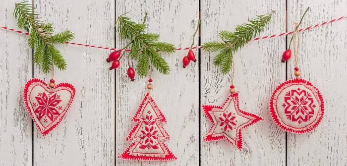 homemade country christmas ornaments - Simple Country Christmas Decorating Ideas