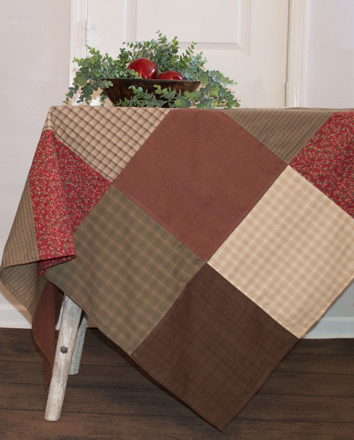 Rosewood Patchwork Tablecloth by Retro Barn