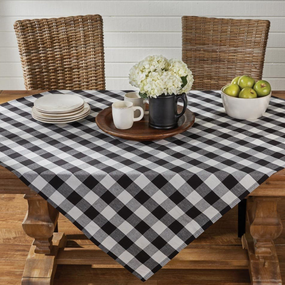 Wicklow Black Check Tablecloth