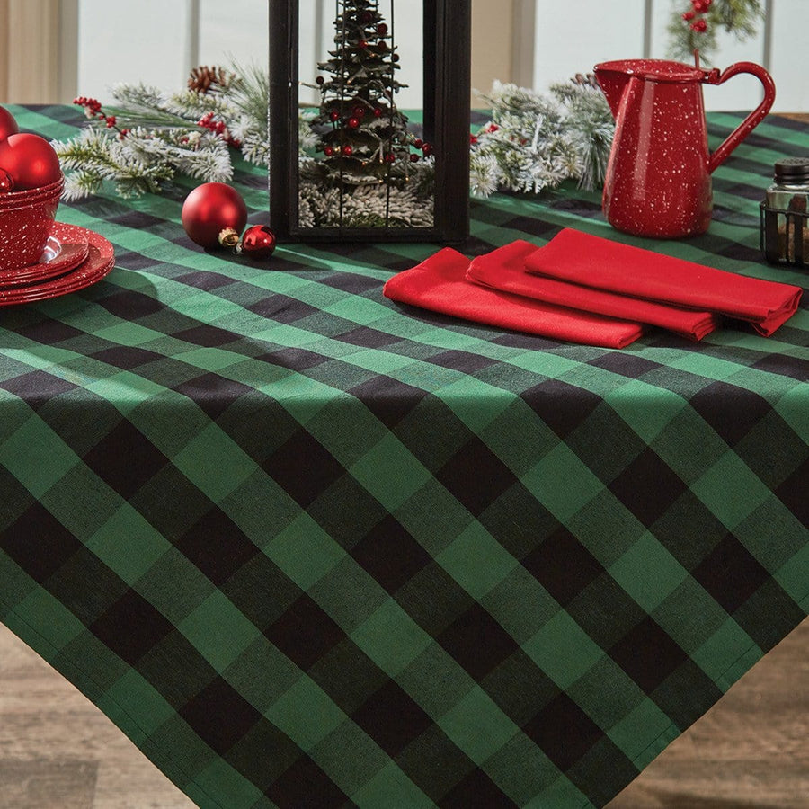 Wicklow Forest Check Tablecloth