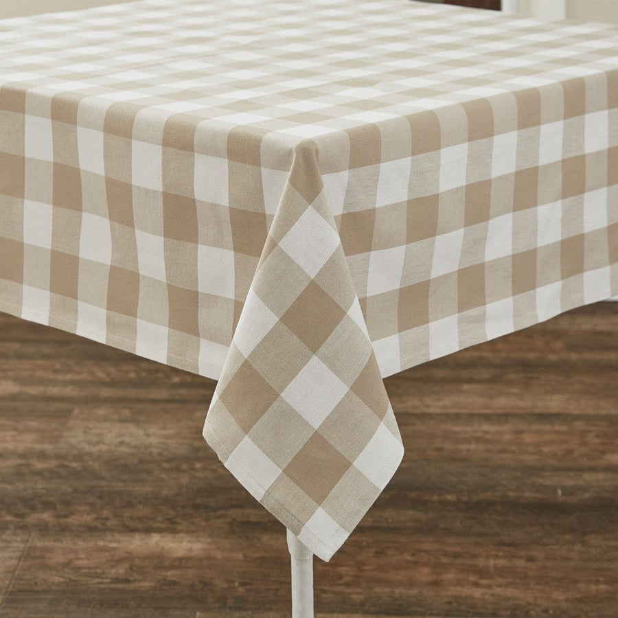 Wicklow Natural Check Tablecloth