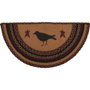Heritage Farms Half Circle Crow Rug