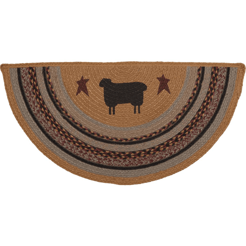 Heritage Farms Half Circle Sheep Rug