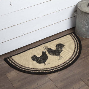 Sawyer Mill Poultry Half Circle Rug