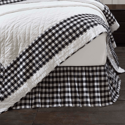 Annie Buffalo Check Bedskirt - Black