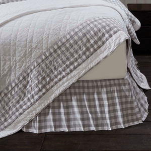 Annie Buffalo Check Bedskirt - Grey