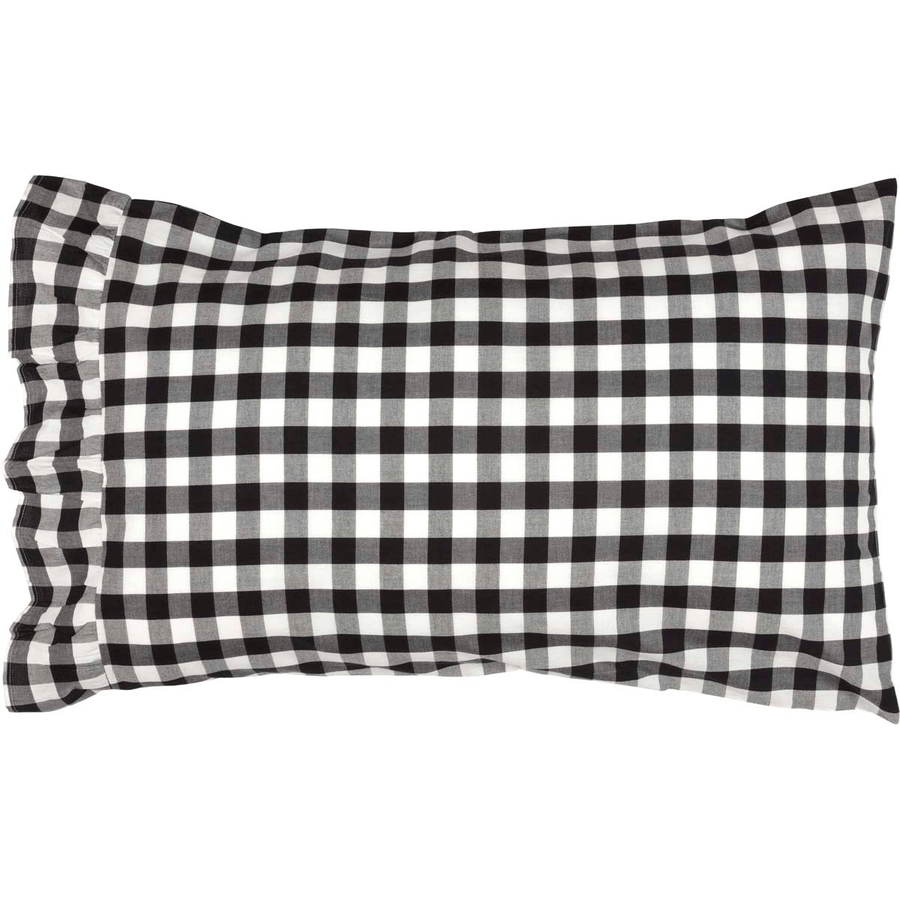 Annie Buffalo Check Pillow Case Set - Black