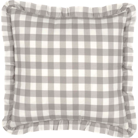 Annie Buffalo Check Pillow - Grey