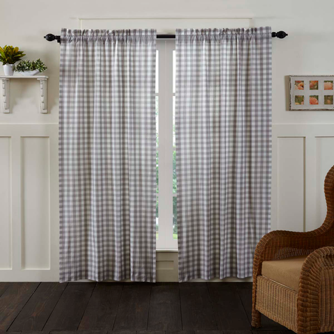 "Annie Buffalo Check 84"" Panel Set - Grey"