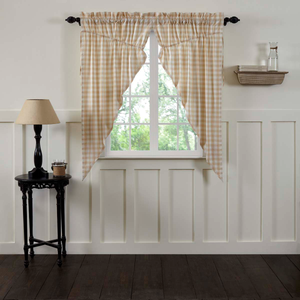 Annie Buffalo Check Prairie Curtain - Tan