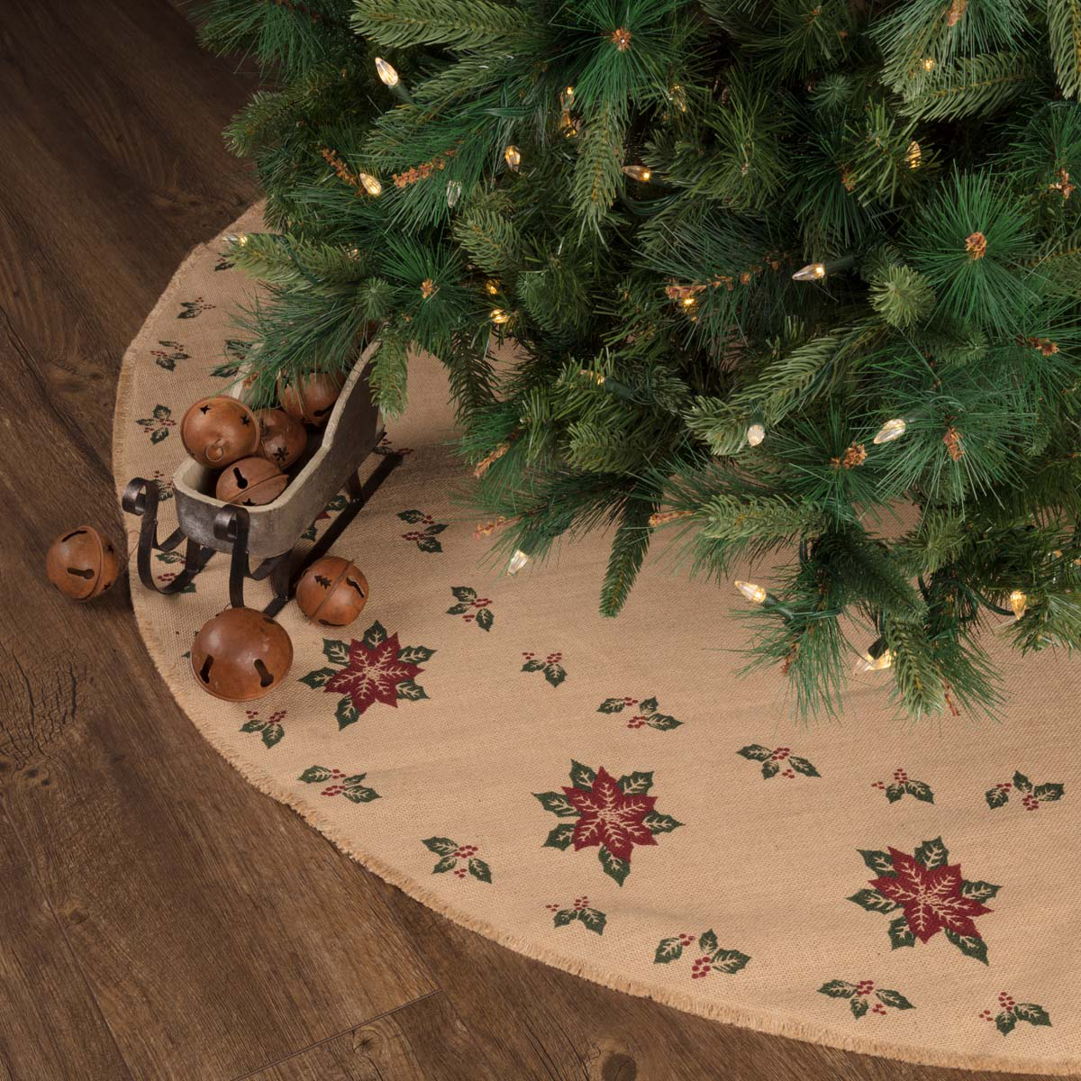 Country Christmas Tree Skirts Patchwork And Embroidered Styles Retro Barn Country Linens