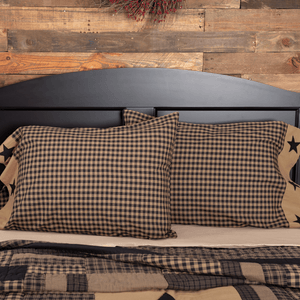 Black Check Star Pillow Case Set