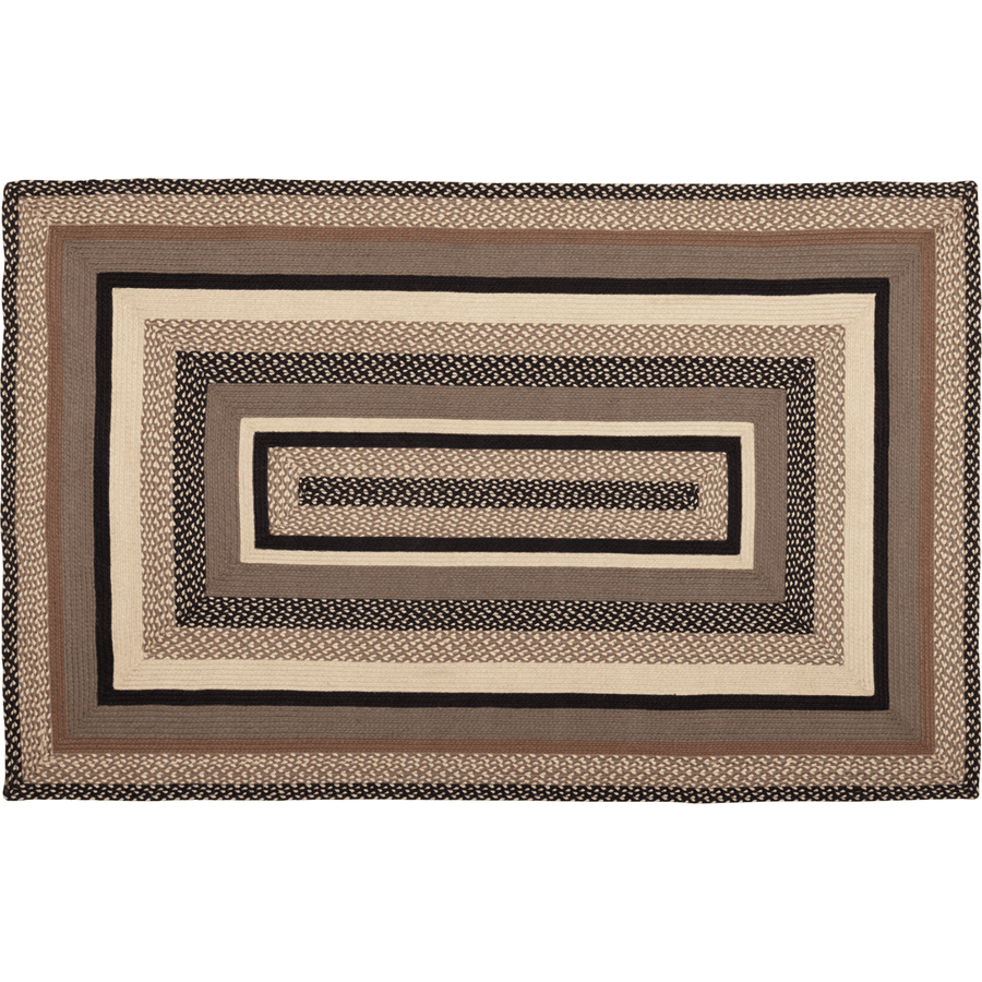 Sawyer Mill Charcoal Braided Rectangle Rug