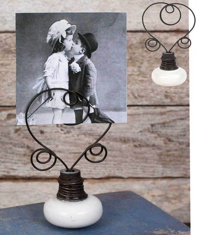 Vintage Doorknob Photo Holders