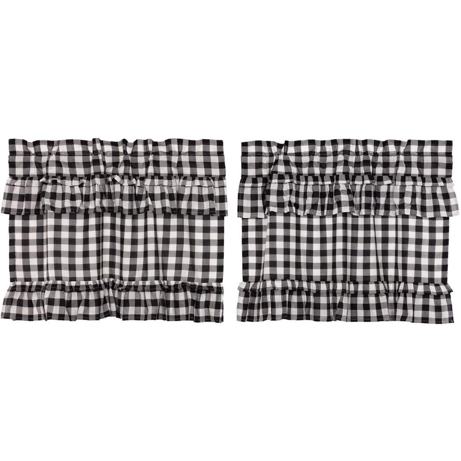 Annie Buffalo Check Ruffled Tier Set - Black