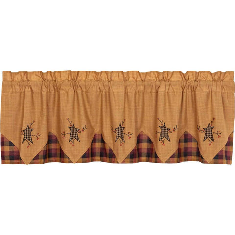 Heritage Farms Layered Valance 72""