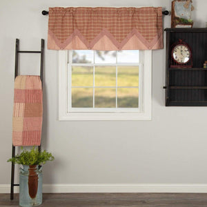 Sawyer Mill Red Layered Valance