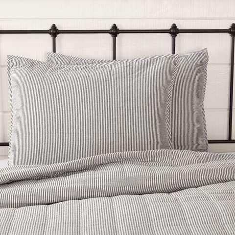 Hatteras Ticking Stripe Quilted Sham