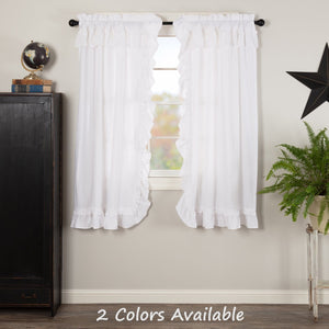 "Muslin Ruffled 63"" Panel Set"
