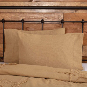 Burlap Natural Pillow Case Set