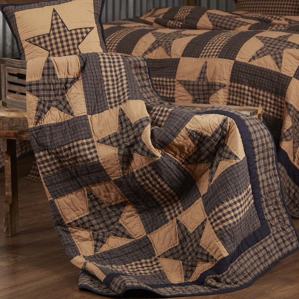 Teton Star Quilted Throw / Wallhanging