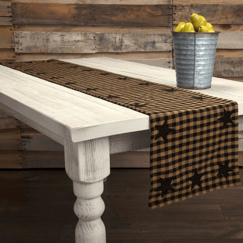 Black Star Table Runner at Retro Barn